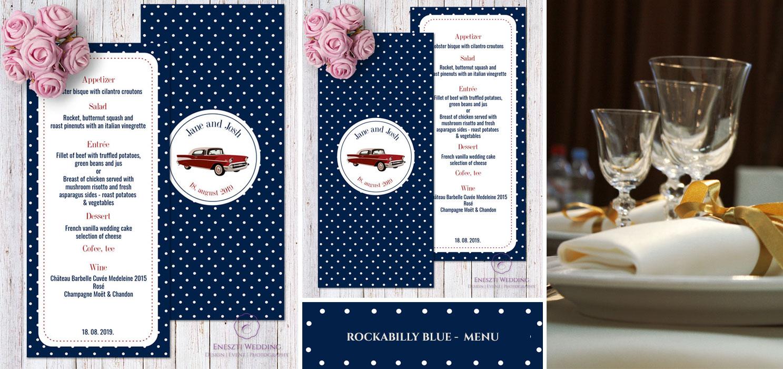 rockabilly blue menu